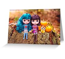 The latest in Blythe fashion: acorn hats Greeting Card