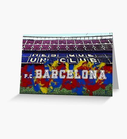F.C. Barcelona - Camp Nou Greeting Card