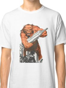 A monster destroying a city vintage comic pop art Classic T-Shirt