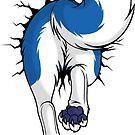STUCK Husky Blue - BACK by tanidareal