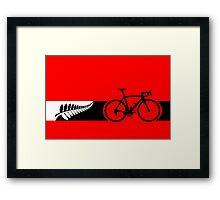 Bike Stripes New Zealand v2 Framed Print