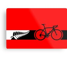 Bike Stripes New Zealand v2 Metal Print
