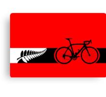 Bike Stripes New Zealand v2 Canvas Print