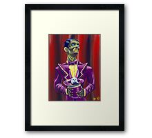 Zombie Magician Framed Print