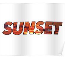 Sunset type Poster