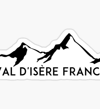 Val d'Isere France Skiing SAVOIE TARENTAISE VALLEY Ski Snowboard Mountain Silhouette Skis Sticker