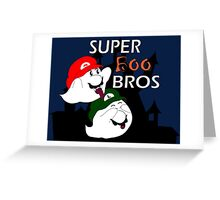 Super Boo Bros Greeting Card