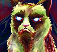 Grumpy Zombie Cat by Chris Moet