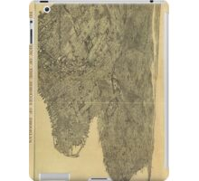 Vintage Pictorial Map of Brooklyn NY (1897) iPad Case/Skin