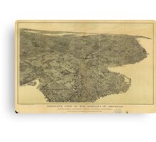 Vintage Pictorial Map of Brooklyn NY (1897) Canvas Print