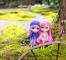 Blythe dolls in the Japanese Garden by Zoe Power