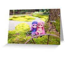 Blythe dolls in the Japanese Garden Greeting Card