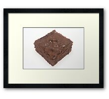 Chocolate Brownie Framed Print