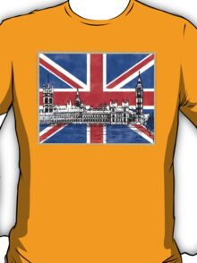 Oh So British - Union Jack Flag And Westminster T-Shirt