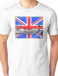 Oh So British - Union Jack Flag And Westminster Unisex T-Shirt