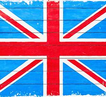 Vintage British Union Jack Flag by Mark Tisdale