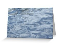 Blue Water Background - Art of Color and Bliss Beauty Greeting Card