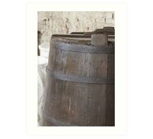 Old barrel for wine Art Print
