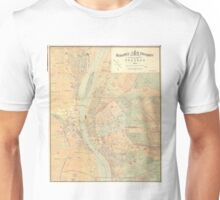 Vintage Map of Budapest Hungary (1884) Unisex T-Shirt