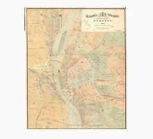 Vintage Map of Budapest Hungary (1884) T-Shirt