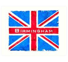 Birmingham Union Jack Vintage Flag Art Print