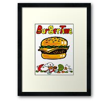 Burger Time Retro  Framed Print