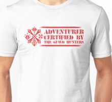 Certified By The Guild of Hunters HORIZONTAL RED Unisex T-Shirt