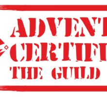 Certified By The Guild of Hunters HORIZONTAL RED Sticker