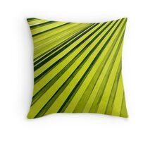 Green Palm Frond Throw Pillow