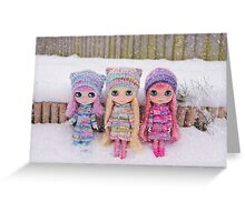 Blythes in the snow Greeting Card