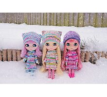 Blythes in the snow Photographic Print