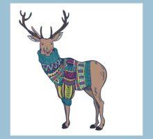 Deer in knitted sweater Kids Tee