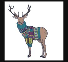 Deer in knitted sweater One Piece - Long Sleeve