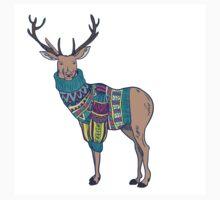 Deer in knitted sweater Baby Tee