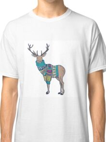 Deer in knitted sweater Classic T-Shirt
