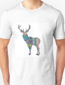 Deer in knitted sweater T-Shirt