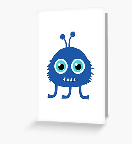 Cute and funny cartoon monster Greeting Card