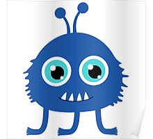 Cute and funny cartoon monster Poster