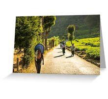 Sri Lankan Tea country workers Greeting Card