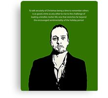 Derren Brown Christmas message Canvas Print