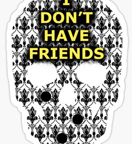 Sherlock Skull Sticker