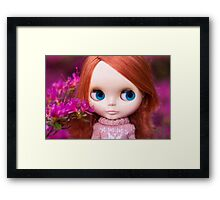 Friendly Freckles in the Fuschia  Framed Print
