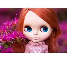 Friendly Freckles in the Fuschia  Photographic Print