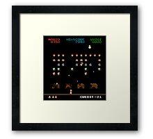 Mario Invaders Framed Print