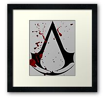 Assassins creed logo with gore! Framed Print