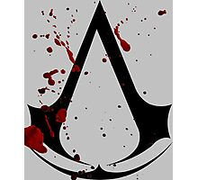 Assassins creed logo with gore! Photographic Print