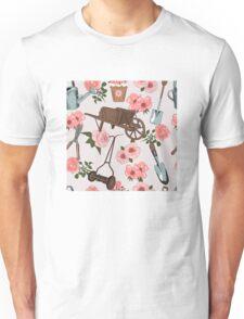 Vintage gardening pattern Unisex T-Shirt