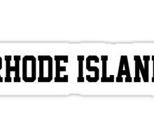 Rhode Island Jersey Black Sticker