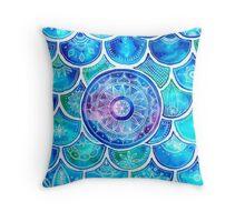 Mandala Mermaid Throw Pillow