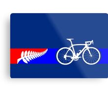 Bike Stripes New Zealand Metal Print